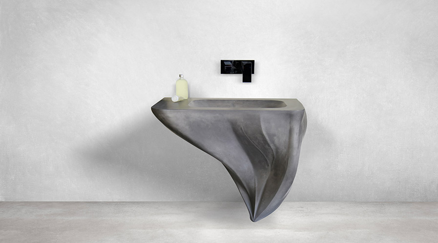 Fluide Series Washbasin made out of concrete by Mumbai-based design firm MuseLAB launched by Nuance Studio