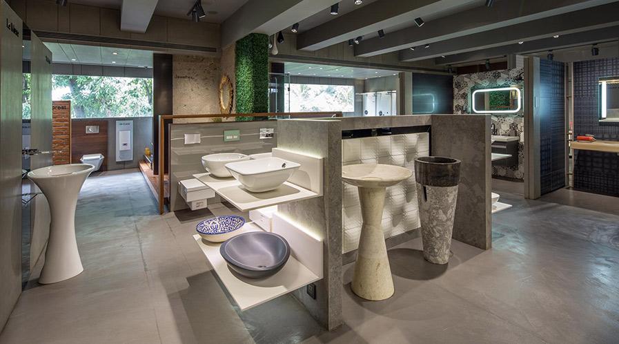 Products and brands in Ritik Ceramics showroom in Mumbai